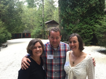 Janet (left) and Adam Guy (middle) at their old stomping grounds